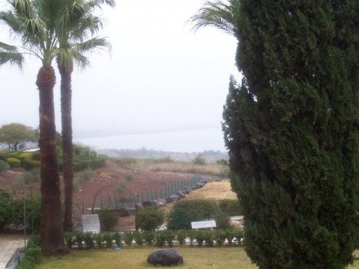 View of the Sea of Galilee from Mount of the Beatitudes