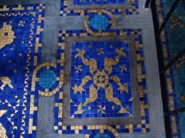 Indoor Roman Pool, Gold Flake Floor