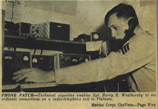 An Operator Transmitting the Phone Calls via Ham Radio that Kept Families ...