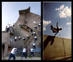 Does anyone know of, or has ever heard of, Parkour? Another name for it is freesprinting