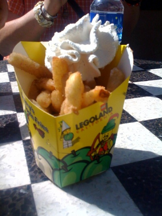These are APPLE FRIES, we opted for regular fries instead...