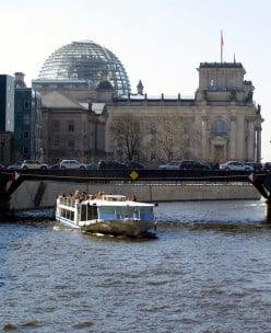 The Spree River, Berlin, near the Reichstag Building