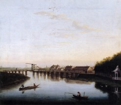 Hackert, 'The Spree with the Schlossbruecke at Charlottenburg' (1762)