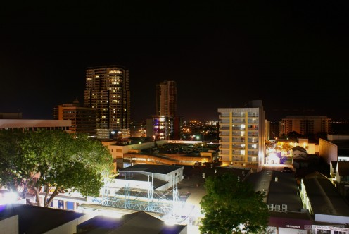 New Darwin, at night