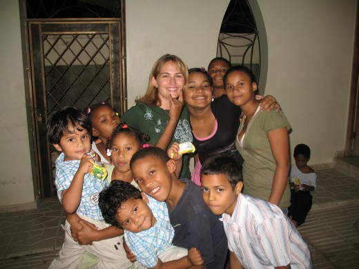 My sponsored kids and other kids living at the orphanage.