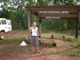 Cape Don's Airport Lounge. Cape Don, Cobourg Peninsula, within Gurig National Park, in Australia's Northern Territory.