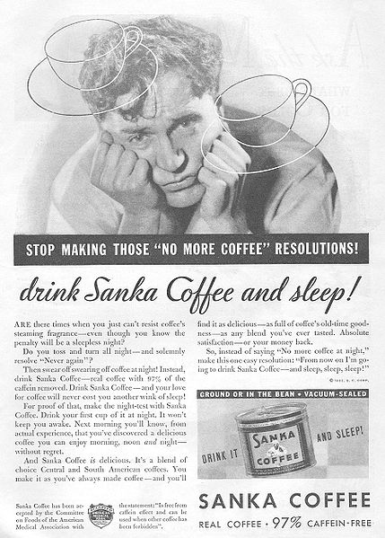 1932 ad: Haunted by ghostly coffee cups...