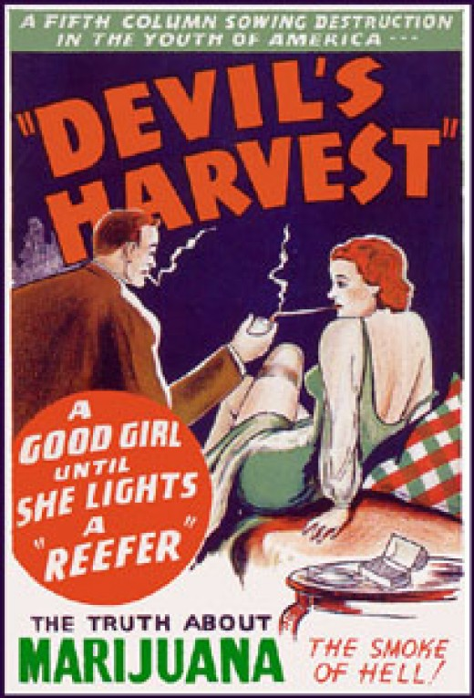 One of countless anti-marijuana propaganda used