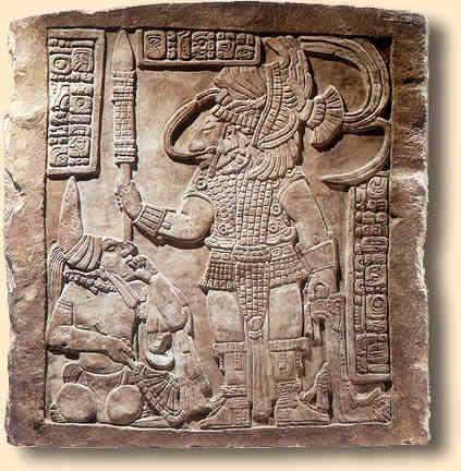 This carving of the legendary Chilam Balam is located in the heart of Mesoamerica. The site is in Spanish and will need to be google tranlated.