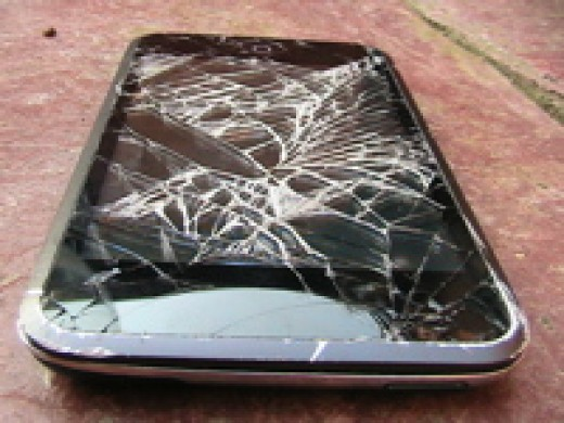 This is what happens when you drop an iPod touch - from waist (Carrying) height