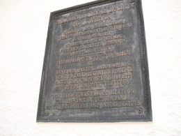 Centenary plaque, dated 1917