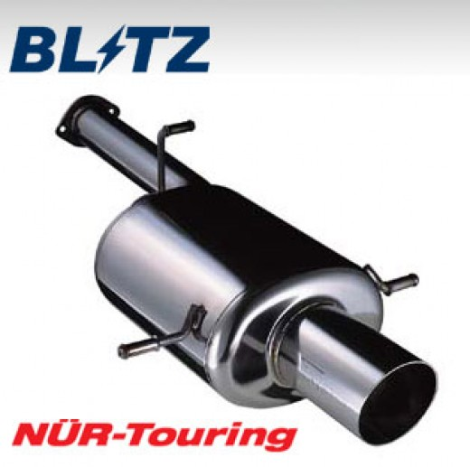 The Blitz Nur-Touring exhaust features dual tips and 305 stainless piping.