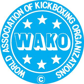 Logo of World Association of Kickboxing Organisations, WAKO