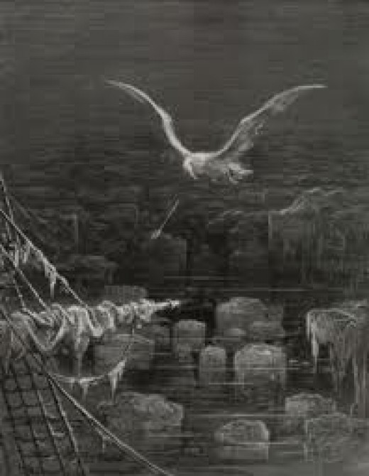 The albatross gets shot by The Ancient Mariner.