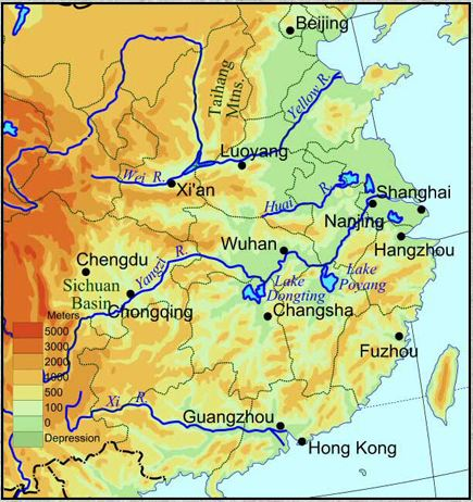 China's major rivers. (Click for full size)