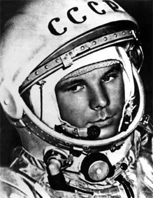 Lieutenant Yuri Gagarin. Image from Wikipedia