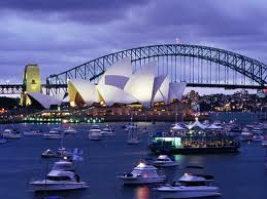 Food from other countries interest people in America. What are some dishes found in Sydney Australia native to the country, but not here in America.