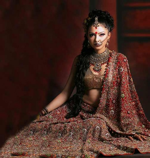 traditional indian wedding dress