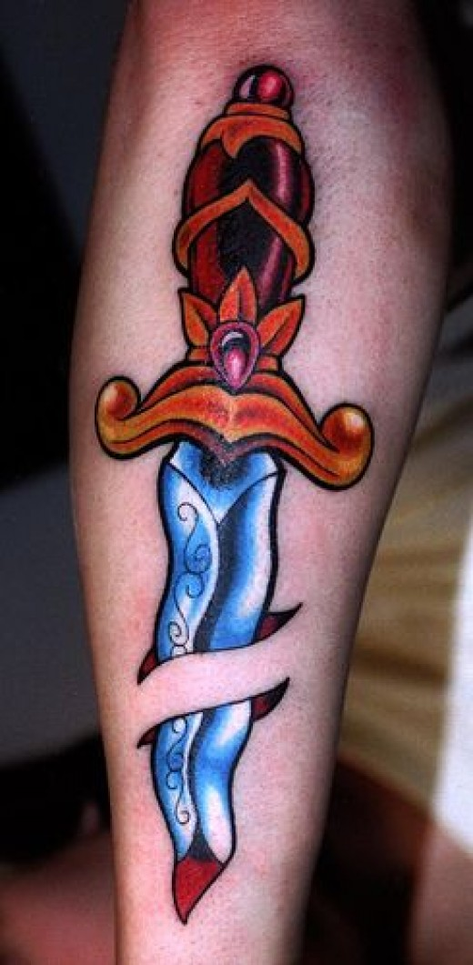Sharp dagger and knife tattoos hubpages for Knife tattoo meaning