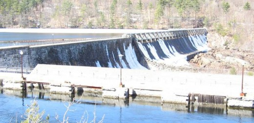 The Great Stone Dam at Spiers Falls on the Hudson River