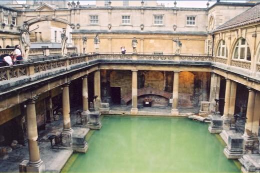Roman bath, Bath, England