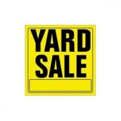 12x12 Yellow and Black Yard Sale Sign