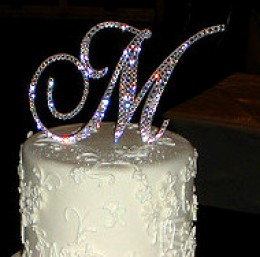 initial wedding cake topper beautify your wedding cake make your own monogram cake topper 16457