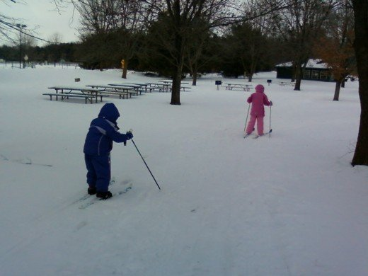 Skiing at Riverbend Recreation Area