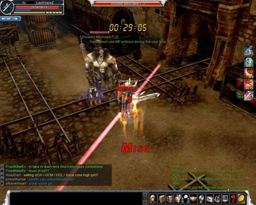 Kill the first boss Invader Mechape T-2