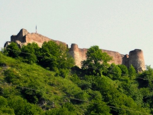Poenari Castle was fortified by Vlad Dracula.