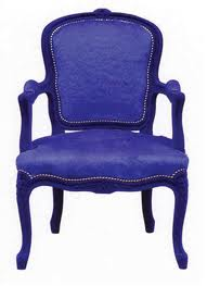 THIS BLUE CHAIR JUST MAY STAR IN MY CAT'S DREAMS!