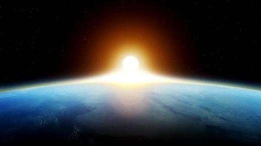 Sunrise above the Earth, NASA
