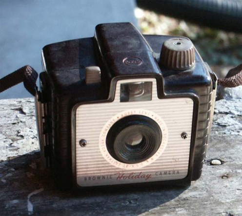 The Brownie Holiday camera. Image from http://westfordcomp.com/foundfilm/brownieholiday/index.htm