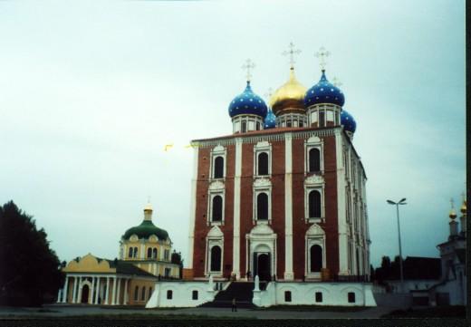 Churches inside Kremlin in Ryazan, Russia