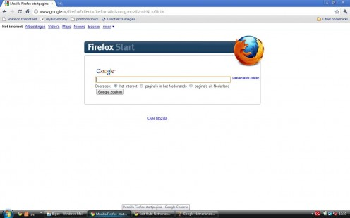 Google NL (Firefox version) in Dutch