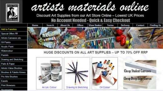 Art Materials Online - great art supplies uk store