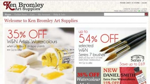 Ken Bromley art supplies uk store