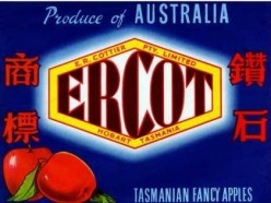 free cross stitch chart Ercot Australian apple label