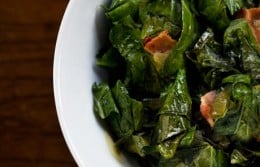Cooked collards.