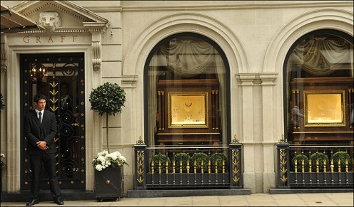 Entrance to Graff Diamonds, London.