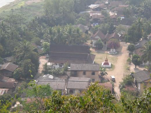 Buddhist Sacred Village , Luang Prabang, Laos.