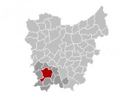 Map location of Oudenaarde, East Flanders, Belgium