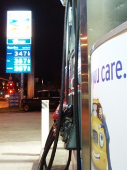 Soaring gas prices connected to oil wars in Iraq.