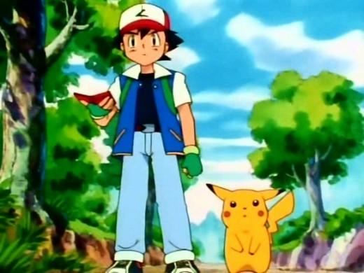 Ash Ketchum, and his Pikachu