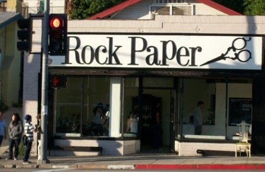 Rock Paper Scissors hair salon. One of my favorites.