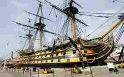 HMS Victory now, alongside in Portsmouth docks