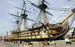 HMS Victory now, alongside in Portsmouth docks