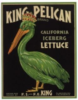 free cross stitch pattern Pelican letttuce label art