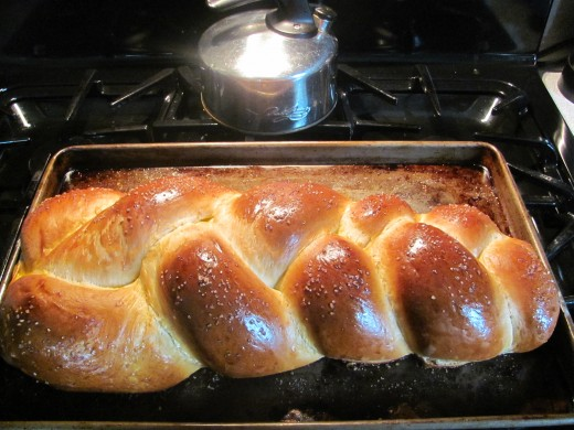 Fresh baked from the oven Challah Bread!