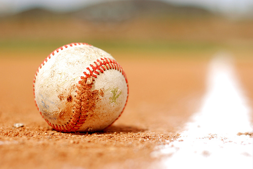 A baseball, an essential to America's national sport.